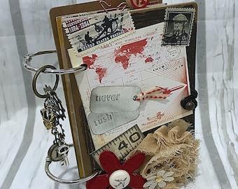 "MINI 3 1/2"" x 5 3/4""  2-ring Planner Organizer Junk Journal Smash Book Scrapbook Art Journal"
