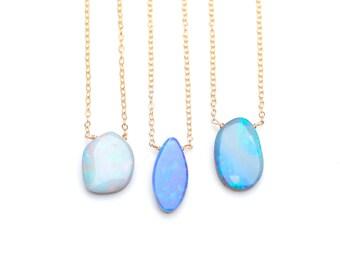 Natural Opal Necklace Australian Boulder Opal