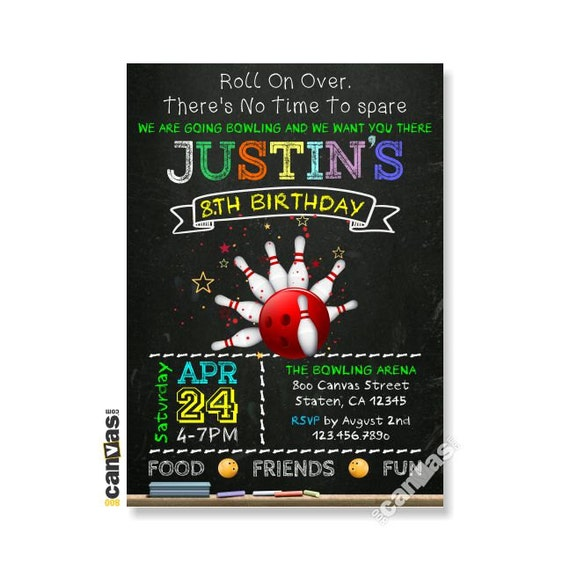 bowling party invitation boys bowling birthday invitations
