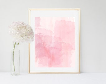 Pink Watercolor, Abstract Art Print, Printable Art, Pink Watercolour, Home Decor, Wall Decor, Pink Wall art, Nursery Print, digital Download