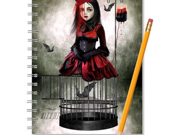 Vampire And Bats Notebook - Vampire Journal - Vampire & Bats Notebook - LINED OR BLANK pages, You Choose