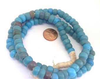 Venetian Blue Glass European Padre Beads from the African Trade - RitaOkrentCollection (AT0658)