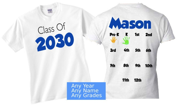 Back to school shirt hand print shirt grow with me
