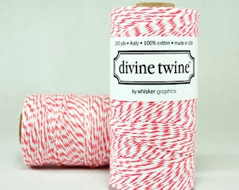 NEW- Coral Divine Twine - 240 yards - Full Spool
