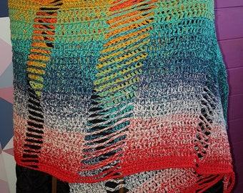 winter, autumn shawl in ice cream colours