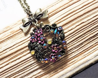 Vintage Inspired Floral Necklace