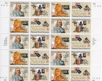 1993 National Postal Museum- US Postage Stamps (20) -Mint-Unused- Scott 2779-2782 Full Sheet