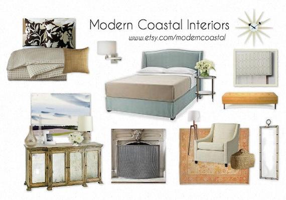 Custom Styleboard Moodboard Coastal Bedroom example