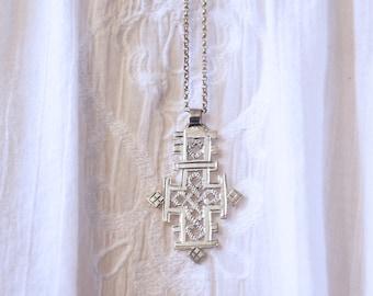 Ethiopian Cross Pendant Necklace