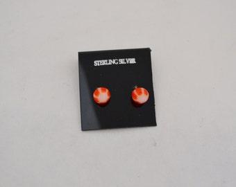 Peppermnt Earrings Sterling Silver