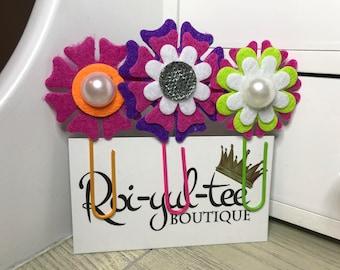 Flower Paper Clip Bookmark