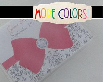 Wedding photo album Silver damask personalized wedding album engagement photo book anniversary gift bridal shower present 600