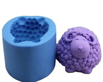 "2.9"" Cartoon Curly sheep 0843 Craft Art Silicone Soap mold Craft Molds DIY"