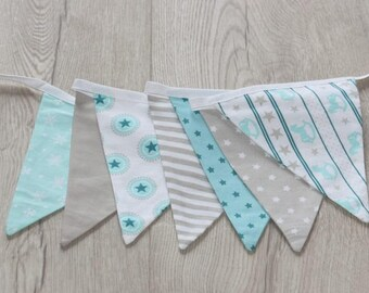 Blue Garland flags sewing kit / stars