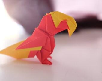 Perroquet de Origami conçu par Barth Dunkan - livraison incluse
