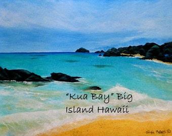 Kua Bay Giclee print by Vickie Peters