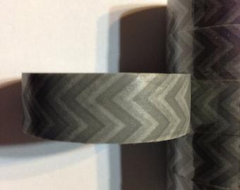 Grey ombré washi tape grey chevron tape