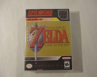 Legend of Zelda Link to the Past Custom SNES Case (***NO GAME***)