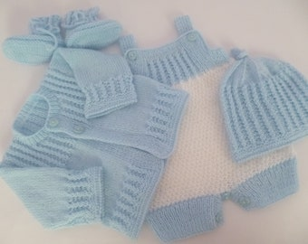 Clothing for Newborn, Boy Romper Set, Newborn Outfit, Knitted Set, Take Home, Coming Home, Baby Shower, READY TO SHIP