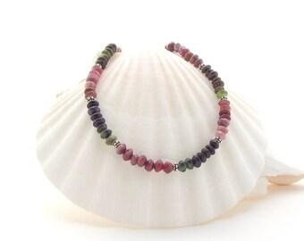 Tourmaline Necklace w/ 1 Spacer Bead