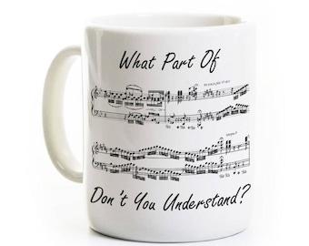 Music Humor Coffee Mug - Gift for Musician Singer Choir Chorus - Music Teacher Mug - Piano Music Student