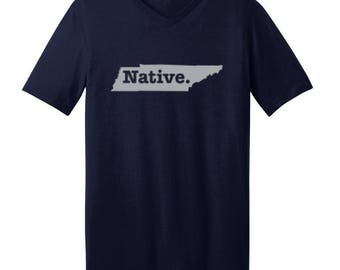 Tennessee Native State - Men's V-neck