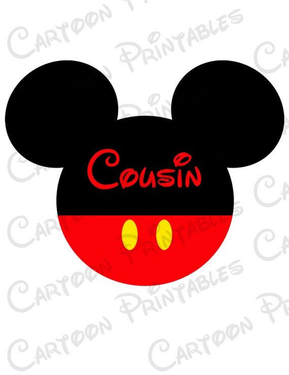 mickey mouse cousin image mouse ears printable clip art iron on rh etsystudio com mickey mouse ears border clipart mickey mouse ears silhouette clip art