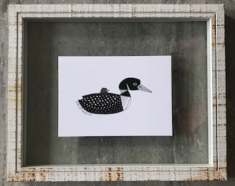 Common Loon - Elle Karel Illustration