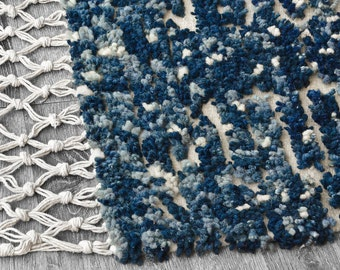 Wool rug - Shades of blue