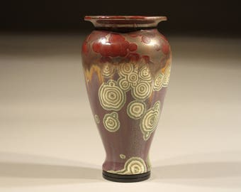 Porcelain vase, glaze with crystalline glaze