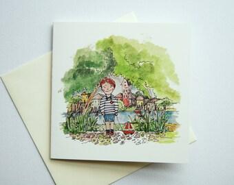 Illustrated Greeting Card, Birthday Card, Watercolor Greeting Card, Illustrated Stationary, Greeting Card, Birthday Card, Card Illustrated