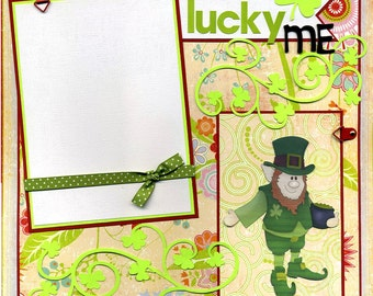 Lucky Me - Premade Scrapbook Page