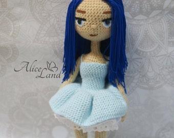 Crochet doll, Amigurumi doll, Art doll, handmade doll, ballerina
