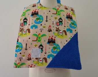 Waterproof Reversible triangle Terry Knight/star bib