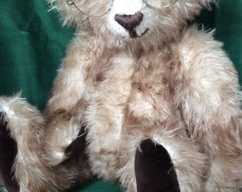 OOAK handmade traditional teddy bear in German mohair