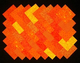 ORANGE 4 inch Squares, 100% cotton Prewashed,  Quilt Block Quilting Fabric  (#A/5B)