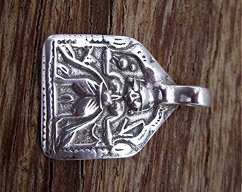 Sterling Silver Hindu Durga Warrior Goddess Charm and Pendant (one) (N)