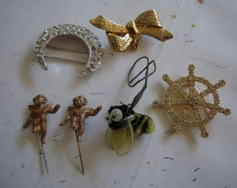 Lot of 5 NICE pin items   ONE PRICE for the group , Condition is like new,. please See description for details