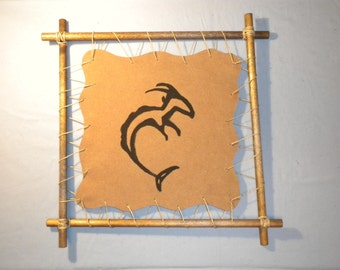 Zodiac Capricorn Primitive Abstract Astrology Astrological Wall Art Hanging