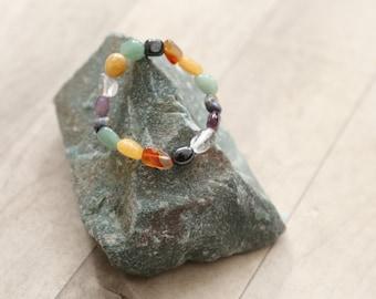 Gemstone Mixed Tumble stone bracelet