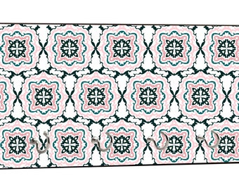 "Pattern Print Design - 5"" by 11"" Key Hanger Household Decoration with Four Hooks"