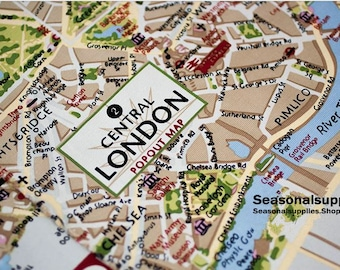 City map fabric etsy retro cotton canvas fabric vintage map fabric of the london city colorful river thames gumiabroncs Gallery