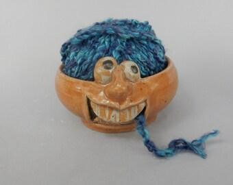 Gritting Teeth Yarn Bowl - Eye Bowls