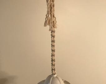 Macrame Hanging Air Plant Holder/Candle Holder