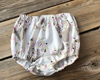 Baby girl clothes deer bloomers woodland shorts baby girls first birthday party outfit boho baby clothes spring summer little girl one year