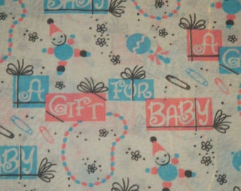 50's A gift for Baby wrapping paper vintage gift wrap 1950's shower