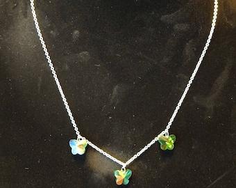 Swarovski Crystal Butterfly Necklace