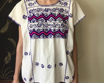 1970's Embroidered Peasant blouse