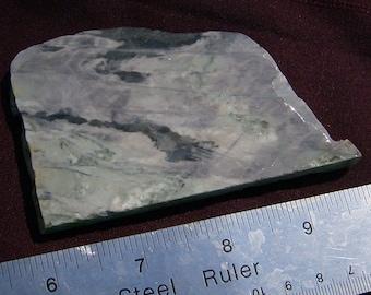 Lavender Jasper Slab -Beautiful Pastel Green & Lavender Handmade Stone Slice by JewelryArtistry - SL459