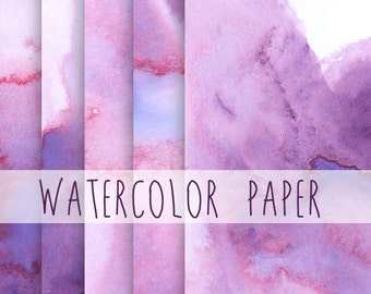 Watercolor Paper Image Pack Clip Art Background Border Template Letter Size High Resolution Images Ultramarine Rose Watercolor Washes